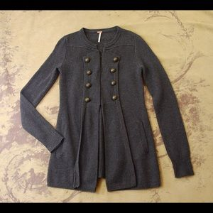 Free People Anthropologie Military Moments Cardi